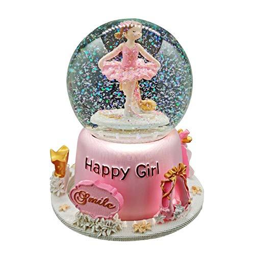 haohaiyo Bolas de nieve bailarina, bailarina, ballet, nia, bola de cristal giratoria, caja de msica para nias