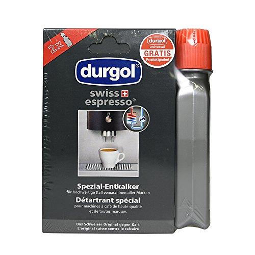 Durgol Swiss Espresso 2x125ml Entkalker - Durgol Universal 125ml gratis