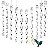 LOVEXIU Vogelabwehr Reflektierende 10pcs,Vögel Vertreiben 29.5cm,Vogelabwehr Reflektor Hängend, Dekoration Für Balkon Und Garten, Zur Halten Sie Vögel Weg Von Ihrem Haus(Silber)
