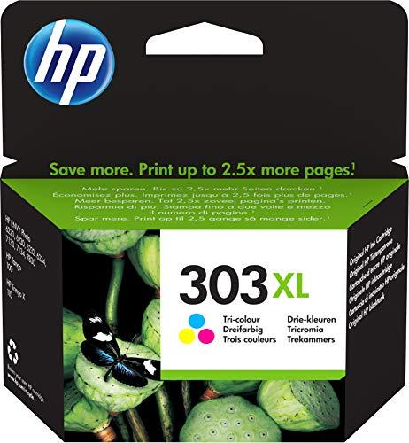 HP 303XL - 10 ML - à rendement élevé - Couleur (Cyan, Magenta, Jaune) - Originale - Cartouche d'encre - pour Envy Photo 62XX, Photo 71XX, Photo 78XX, Tango