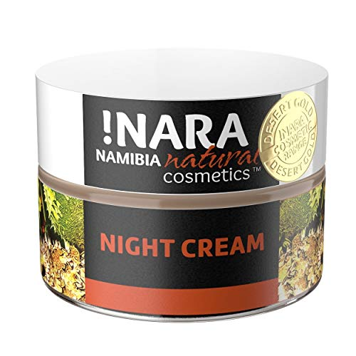 Nara Nachtcreme, Naturkosmetik, reichhaltige Gesichtscreme für trockene und empfindliche Haut (1x50 ml)