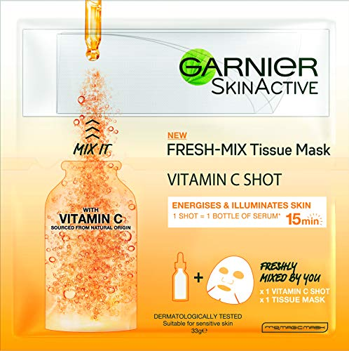 Garnier Fresh Mix Tissue Face Mask Vitamin C