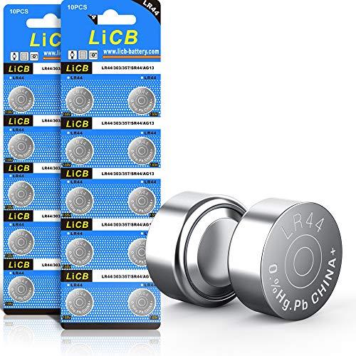 LiCB 20 Stück LR44 knopfzelle, AG13 PX76A l1154f 357A 1,5V Alkaline Batterie 3 Jahre Lagerfähigkeit 100% Voll Garantie