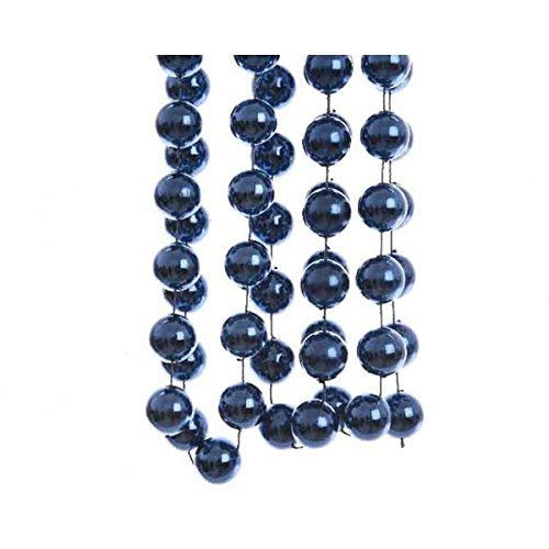 Zeus Party Guirlande de perles XXL bleu nuit 2 x 270 cm.