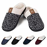 Women's Slippers Men's Warm Slippers Home Shoes Comfortable Memory Foam Anti-Slip House Cotton Shoes Indoor & Outdoor(X-Grey,38/39)