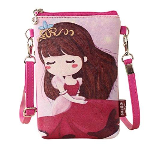 Rucksack Rcool Umhängetaschen Damen Handtaschen & Karikatur Handtaschen Kinder Mädchen Mini Crossbody Tasche (A)