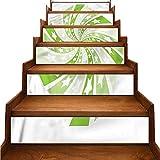 JiuYIBB - Adhesivos para escaleras, color amarillo y blanco