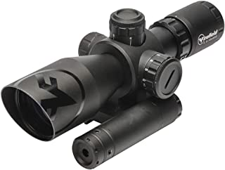 Firefield Barrage Waterproof Riflescope with Green Laser Multi-Coated Scratch Resistant/Anti-Reflective Glass and Illuminated red and Green Mil-Dot Reticle