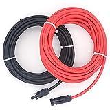 NUZAMAS - Par de Cables de extensión de núcleo único de 9,15 m (10 AWG) con Conectores ...