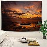 YOYNZY Tapestry Bali Hermoso Paisaje Tapiz Bohemian Beach Sea Tapiz Tapiz Decoración del Dormitorio Colgante De Pared I para Dormitorio Sala De Estar Decoración del Hogar-150X200Cm