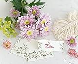 25 unidades – Tarjetas de mesa, tarjetas de asiento, tarjetas de asiento para tu boda, cumpleaños, comunión, confirmación o bautizo (Flora).