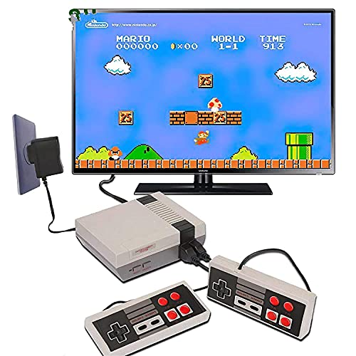 GSH Pre-Installed 620 Games Mini TV Game Console |Gaming Player AV Output Game Console |Gifts to Kids (Cartridge not Required) | Plug and Play Game