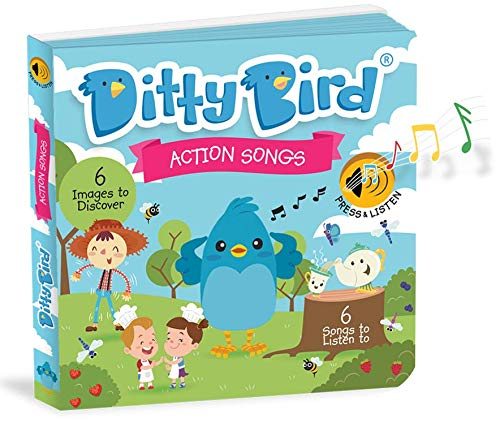 DITTY BIRD Action Songs Book. Our Best Interactive Music Book for Babies. Sound Books for one Year Old Toddler. Educational Toys for 1 Year Old boy Gifts. Gift for 1 Year