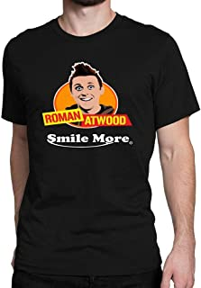 Men's Roman Atwood Smile More Cool Short Sleeve Interesting Casual T Shirt