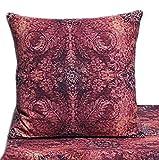 Hossner Kissenbzug Zierkissen Kissen Hülle Barroc Ornamente Rot 100% Baumwolle (50 x 50 cm...