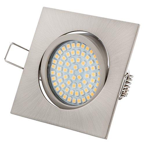 Ultra Piatto LED Faretto ad Incasso | Tolles Design | Bianco Caldo - Bianco Freddo | 3.5W 230V Orientabile | Illuminazione ad Incasso (Bianco Freddo)