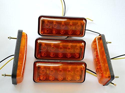 5 x voorste zijmarkeringslichten vrachtwagen camper 24V LED oranje