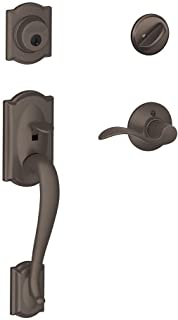 Camelot Single Cylinder Handleset and Right Hand Accent Lever, Oil Rubbed Bronze (F60 CAM 613 Acc RH)