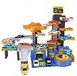 COSMOLINO Parcheggio e Garage per Bambini, Garage per Auto, con 6 macchinine, dai 5 Anni