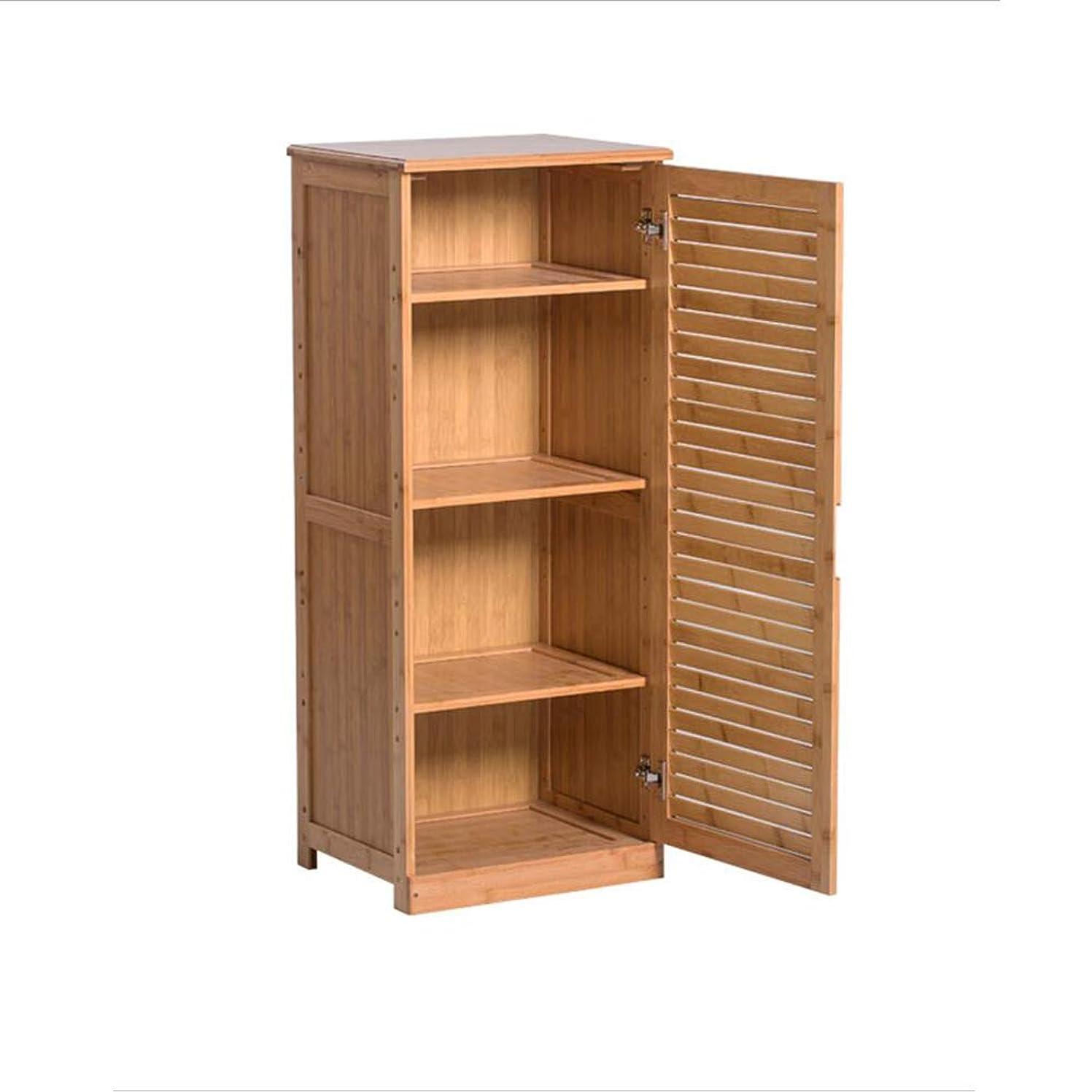 木材実際の可能性XIAOLIN 靴ラック4層家庭用靴箱防塵ストレージキャビネット入り口竹ロッカー回廊