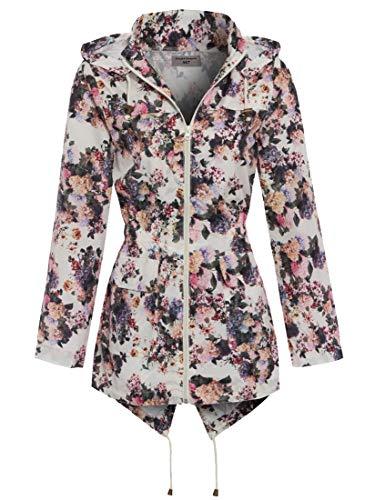 SS7 Femmes Floral Veste de Pluie, Grandes Tailles 18 pour 24 - Impression Florale, EU 50