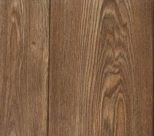 PVC Vinyl-Bodenbelag in Walnuss Optik | CV-Belag im Landhausdielen-Stil | PVC-Belag verfügbar in der Breite 400 cm & in der Länge 500 cm | CV-Boden wird in benötigter Größe als Meterware geliefert