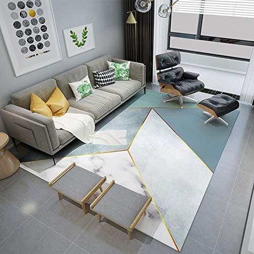 SEART Alfombra para Sala de Estar, Antideslizante, para Dormitorio, balcón, diseño geométrico, rectángulo Plano, Personalizable, Material, C, 80cmx120cm