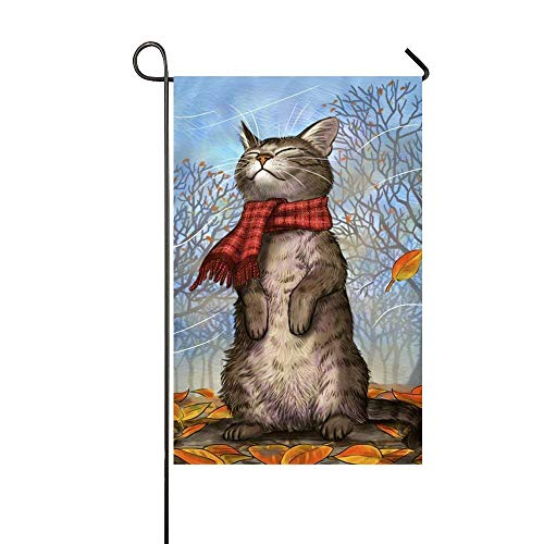 Jagfhhs Snowman Hello Autumn Color Butterfly Ollie and The Wind Happy New Year Happy Birthday Hummingbird Tree Bird Love Decorative Garden Flag 12X18 Inch Durable Not Fading
