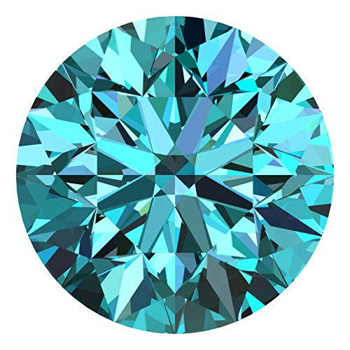 CERTIFIED 2.0 MM / 0.035 Cts. Natural Loose Diamonds, Fancy Blue Color Round Brilliant Cut SI3-I1 Clarity 100% Real Diamonds by IndiGems