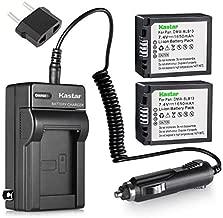 Kastar DMW-BLB13 Battery (2-Pack) and Charger Kit for Panasonic DMW-BLB13 DMW-BLB13E DMW-BLB13GK DE-A49 DE-A49C and Panasonic Lumix DMC-G1 DMC-G2 DMC-G10 DMC-GF1 DMC-GH1 Cameras