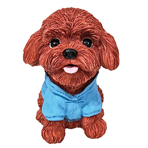 START Auto Ornamente Simulation Hund niedlichen Cartoon Teddy Puppe Auto Dekoration Auto Innenkonsole Puppe (Color : Blue)
