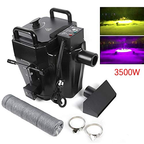 Fog Machine,Portable 3500W 110V Smoke Machine,DMX Mini Dry Ice Fog/Smoke Machine,Quick Generation of Huge Fog,Best Mist Machine for Halloween Party Festival Wedding Stage Effect w/3m Diversion Tube
