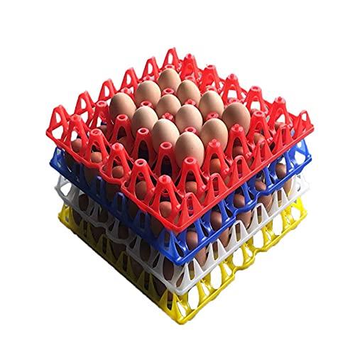 10 Eierschalen aus Kunststoff für 30 Eier, Eierhalter in 4 Farben