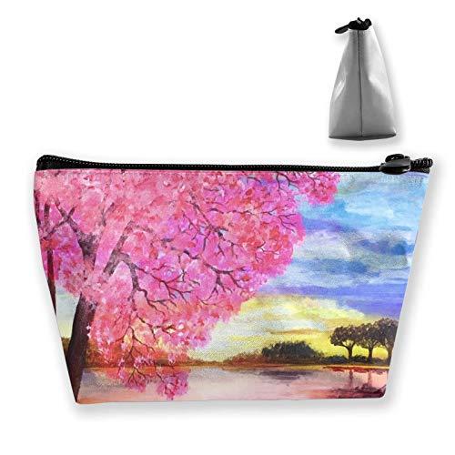 Bolsa de cosméticos para mujer, bolsa de maquillaje de viaje, mini monedero con cremallera para artículos de tocador, regalos perezosos (acuarela Rey León pintura Art)