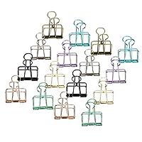 中空バインダークリップ、紙アリ溝クリップ、オフィスキッチンリビングルームのためのシンプルでエレガントなファッション旅行(Medium)