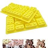 Lego-Silikonform, 2 Stück/Set, Lebensmittelqualität, Antihaft-Streifen, Eiswürfelform, Gelee, Kekse, Schokolade, Süßigkeiten, Cupcake-Backform, Muffinform