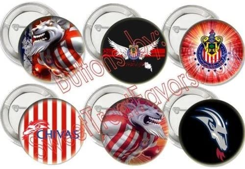 Hallm Chivas Guadalajara Soccer Quantity limited Max 76% OFF Team Party Buttons Favors Pins T