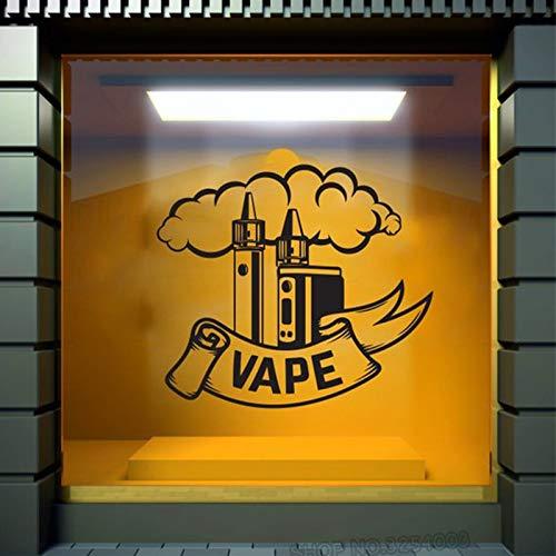 Ajcwhml Vape Shop Tatuajes de Pared Coma el sueño Vape Etiqueta de la Pared Humo Vinilo Vaping Decoración Logotipo de una Tienda extraíble Tiendas de Compras Calcomanía 42X47CM: Amazon.es: Hogar