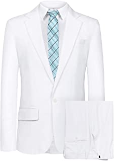 Hanayome Men's 5 Autumn 3 Pieces Wedding Party Pants Blazer Suits and Jacket