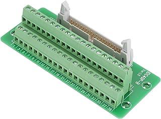 Keenso IDC40P Placa de Conexión de Terminales, 40 pines, Interfaz PLC de Montaje en Riel DIN con Soporte