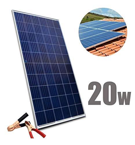 Placa Solar Energia Painel 20w Celulas Fotovoltaicas Sol Economia Casa