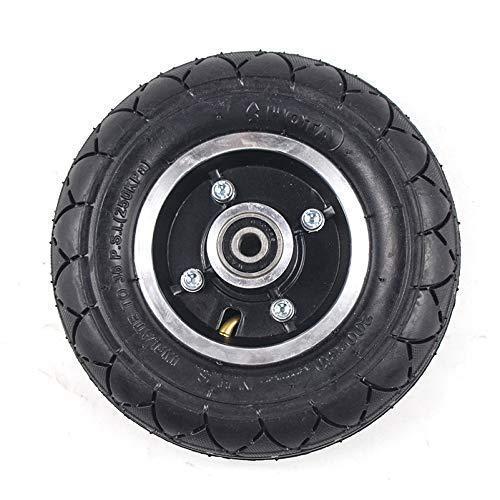 Neumáticos para patinetes eléctricos, Neumáticos para patinetes eléctricos con cubo de rueda Scooter de 8 'Neumático de 200x50 Inflado Vehículo eléctrico Rueda de aleación de aluminio Neumático