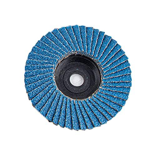 1 unid / 5pc / 10pc Discos de aleta plana 75 mm 3 pulgadas / 2 pulgadas 50x10mm 75x10mm Discos de lijado Ruedas de pulido cuchillas para molinillo de ángulo grano 80 ( Color : Blue , Size : 10pc )