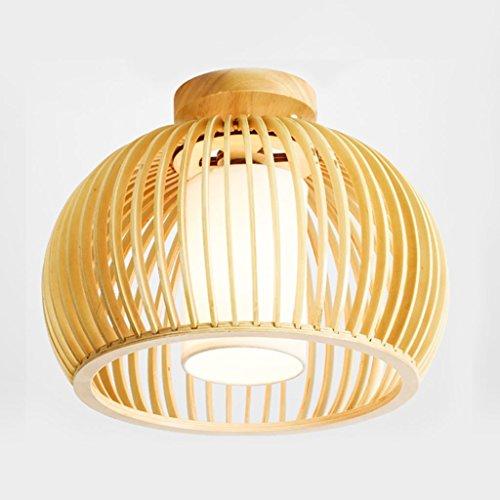 WEM Lámpara de techo con luz interior Lámpara de techo escandinava japonesa Luz de madera maciza Dormitorio Balcón Entrada Pasillo Pasillo Luz creativa de la sala de juegos, 36 * 26Cm Ji Sınıfı a +++