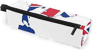 Glasses Case Unique Australian Flag Multi-Function Zippered Pencil Box Makeup Cosmetic Bag for Women