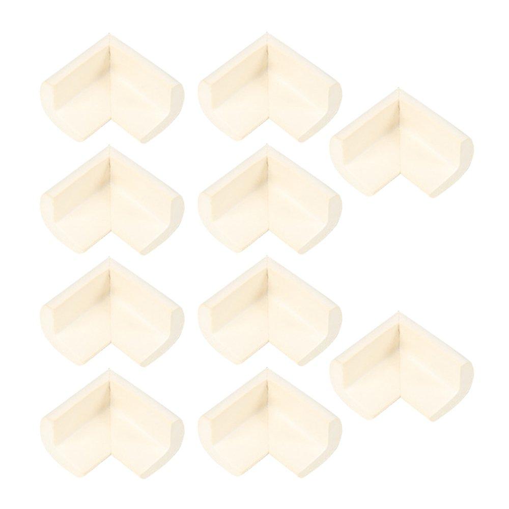 10 片柔性橡胶直角角面板纸板底板相框 米色