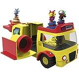 Poeeng Playset Autobus, Multicolor (Bandai 153531)