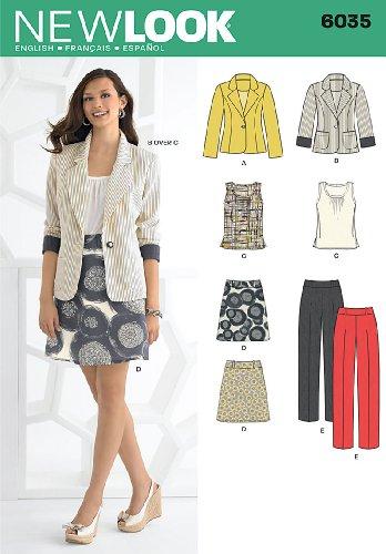 Vogue Fabrics Patterns - New Look 6035 Misses Sportswear