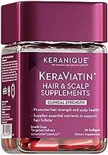 Keranique KeraViatin Hair & Scalp Health Supplement, Clinical Strength, Biotin, Vitamin B, 60 Softgels