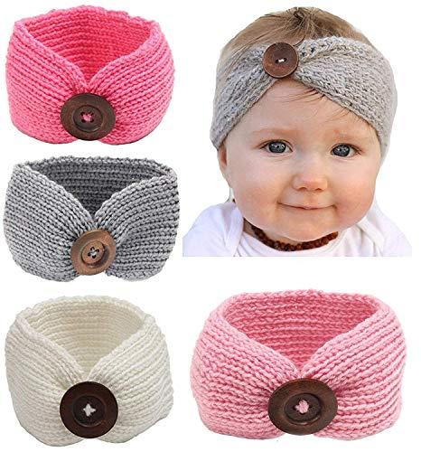 ベビー赤ちゃん女の子ニットヘアーバンド暖かいカヘッドバンド 可愛いヘアアクセサリー